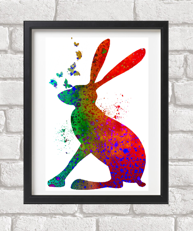 March Hare Giclee Fine Art Print A4  size