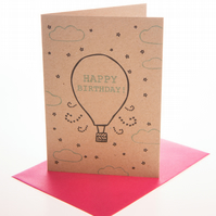 Birthday balloon - mini greetings card