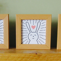 Mr Fox , Bunny and Cat trio of prints