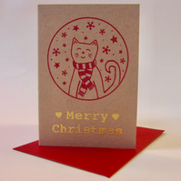 Set of 5 mini Christmas cards