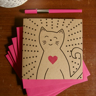 Love Cat greetings card