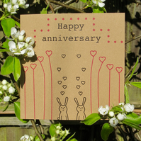 Happy Anniversary Bunnies greetings card
