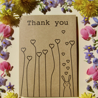 Thank you Bunny greetings card