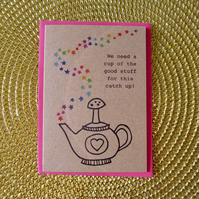 Cup of the good stuff - mini greetings card