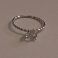 Herkimer Diamond Ring, Sterling Silver Ring, Birthday, Anniversary, Gift