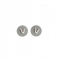 Sterling Silver Geometric V Stud Earrings A Gift Box is Included