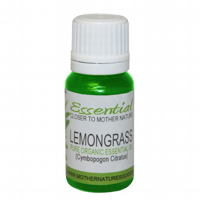 Lemongrass Essential Oil (Organic) Pure by Mother Nature's Goodies