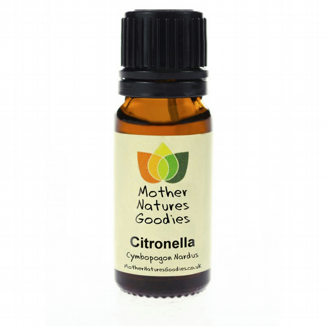 10 ml Citronella Essential Oil Pure Natural Therapeutic Grade Aromatherapy