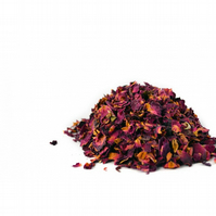 Dried Red Rose Petals for Soap Decoration 20g