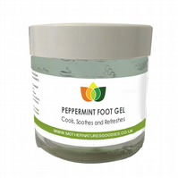 Peppermint Foot Gel Cools Soothes Refreshes Aromatherapy 100 ml