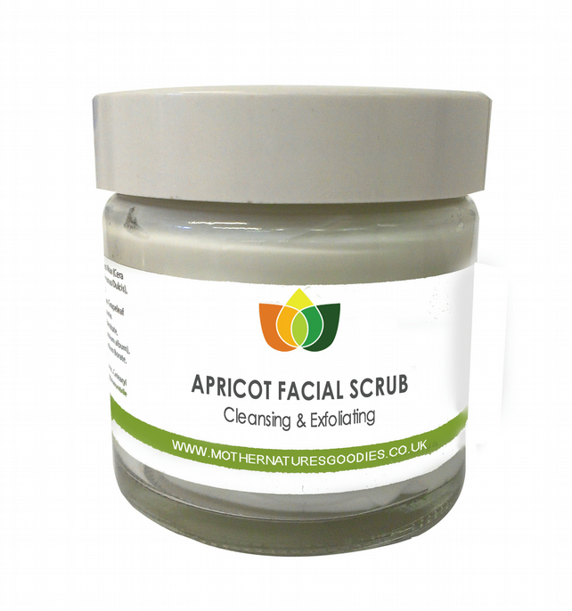 Apricot Face Scrub Natural  Cleansing & Exfoliating Aromatherapy 100 ml
