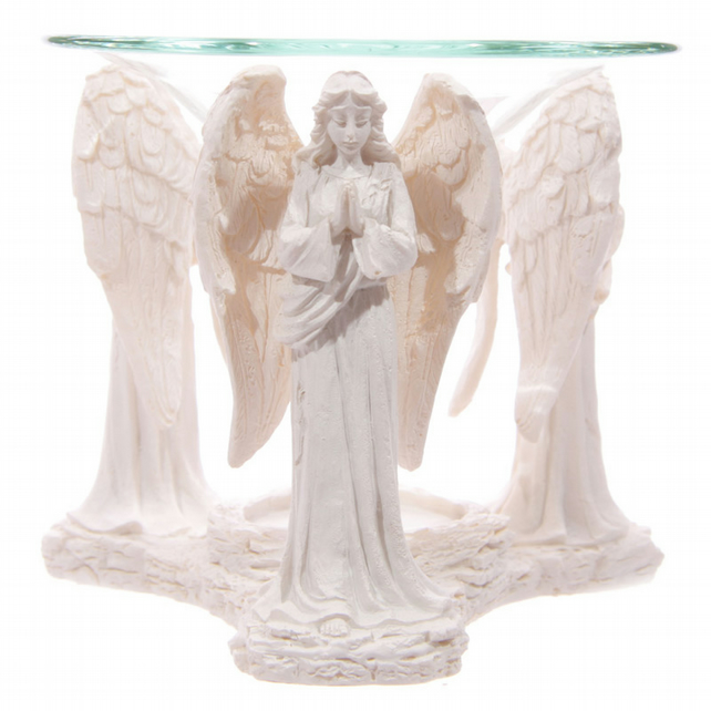 White Praying Angel Figurine Premium Oil Burner