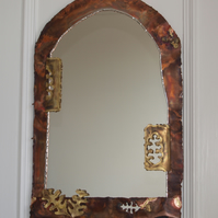 Handmade copper mirror OAK