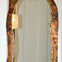 Handmade copper mirror SPIRAL