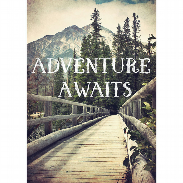 Adventure awaits print, great outdoors print, adventure quote art