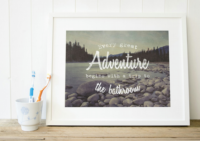 Rustic Bathroom Decor, Bathroom Art, Adventure ...