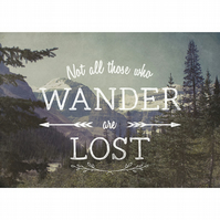 Wilderness art print, wanderlust print, nature lovers gift, hiking print