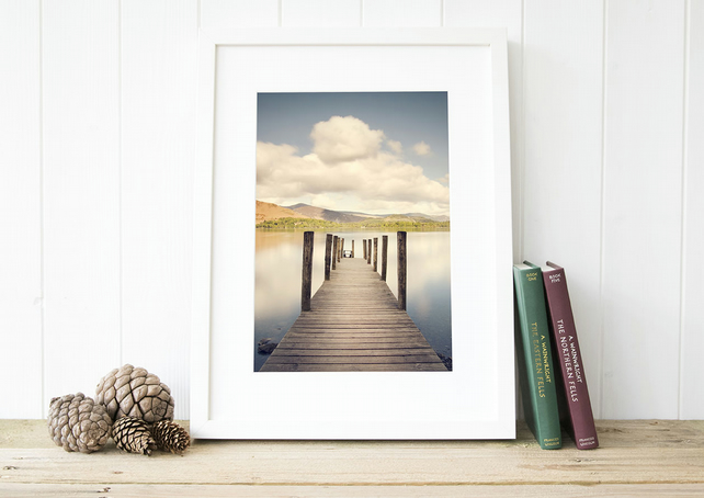 Lake District print, Ashness Jetty wall art, Derwentwater gift