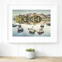 Catbells wall art, Derwentwater print, Lake District fine art photography