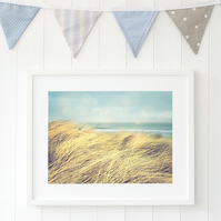 Beach house decor - Seaside print - Sand dunes print - Coastal decor
