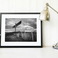 Angel of the North wall art print - North East England landscape print