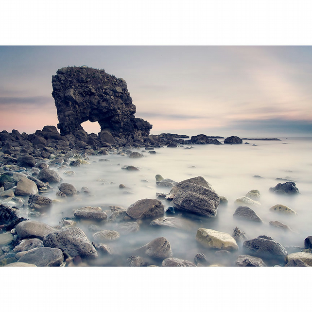 Whitburn Arch, South Tyneside, North East England photography, coastal art print