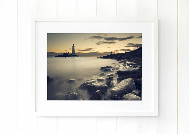 St Mary's Island wall art print - Whitley Bay print - Fine art photography