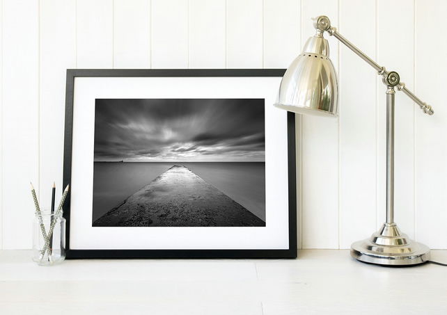 Geordie gift, Blyth photography, Minimalist black and white living room wall art