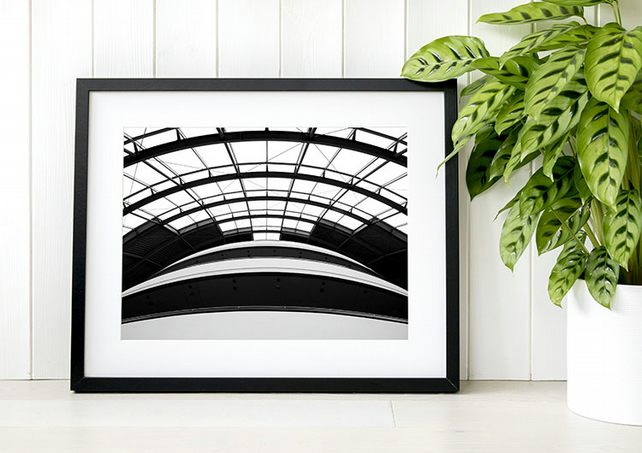 The Sage minimalist black and white photography, living room wall art print