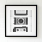 Vintage camera print, retro camera wall art, black and white photography