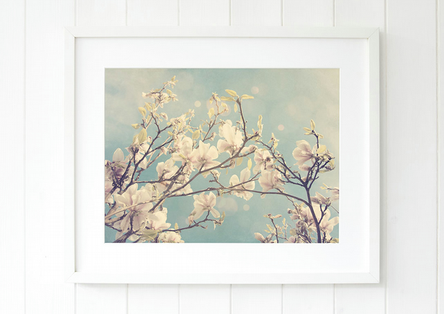 Magnolia print - Pastel home decor - Soft pastel art - Spring interiors