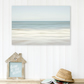 Beach wall art print - Pale blue bedroom wall art - Blue bathroom art