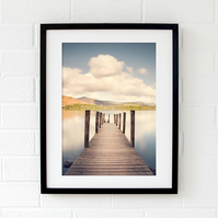 Lake District print - Ashness Jetty wall art - Derwentwater gift