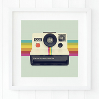 Retro camera wall art - Modern camera art - Cool camera gift idea