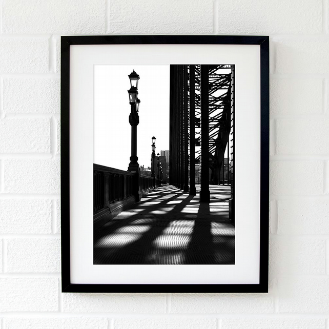 Newcastle Tyne Bridge photography, North East England Tyne Bridge wall art print