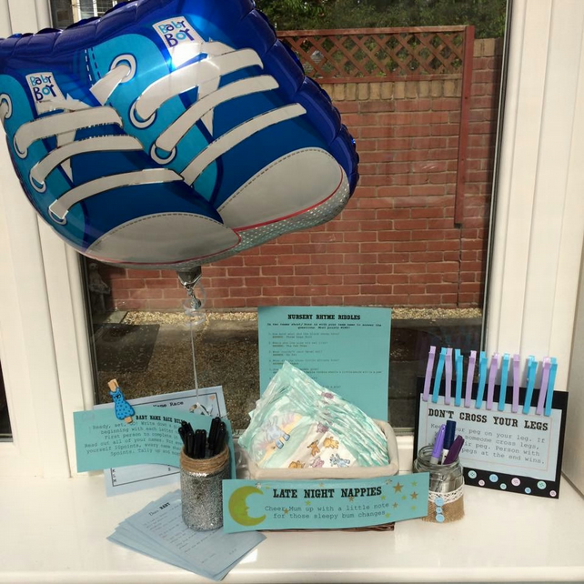 Baby Shower in a Box - games, decorations & favours all packed into a box!