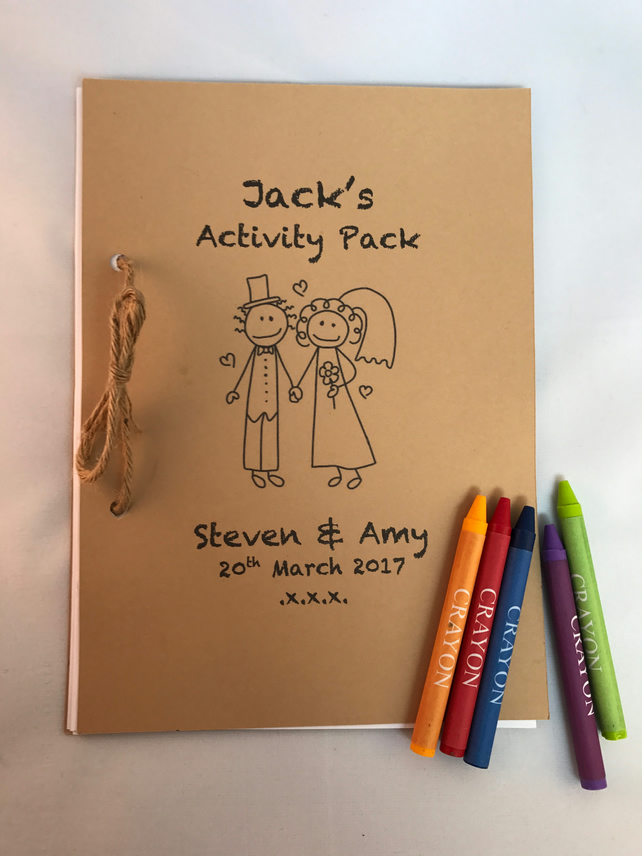 Children's Wedding Activity Pack - personalised & age specific
