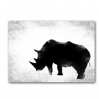 Black & White Rhino - Fine art print