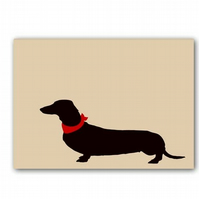 Dachshund Dog in beige colour -  Fine Art Print