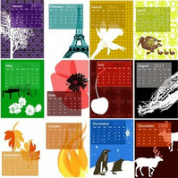 SALE ! 2011 Desk Calendar REFILL (cards only)
