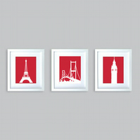 Three great monuments - Fine art print