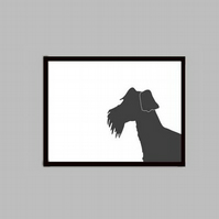 Welsh Terrier's Silhouette