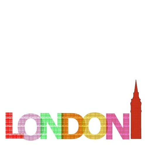 LONDON in a new trendy pattern