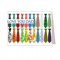 Ties Collection for Father's Day - Printable Card