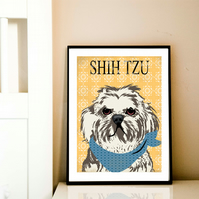 Shih Tzu Dog - Fine art print