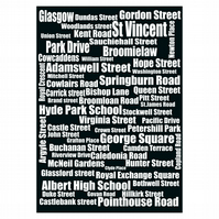 Typography of Glasgow Street Names
