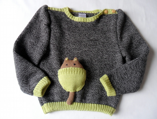 Knitting Pattern Jumper For Cat : Knitted Cat Jumper - Cat toy pocket sweater in ... - Folksy