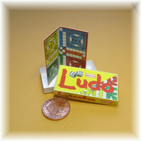 Dolls House 1:12th scale miniature board game. Ludo PRICE REDUCED