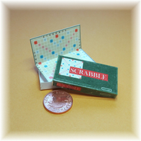 Dolls House 1:12th scale miniature board game. Scrabble