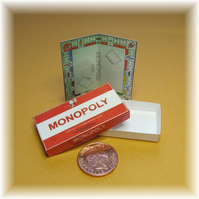 Dolls House 1:12th scale miniature board game. Monopoly